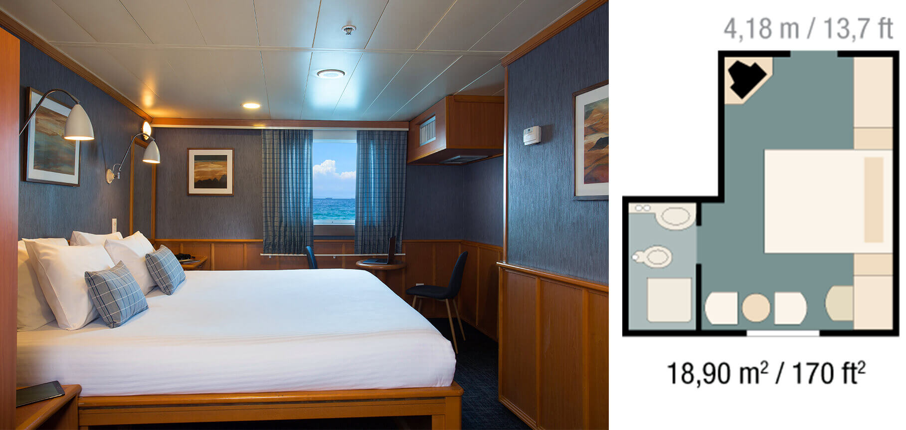 Owners cabin - Yacht Isabela II
