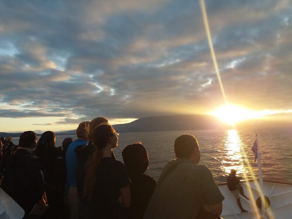 galapagos islands sunrise