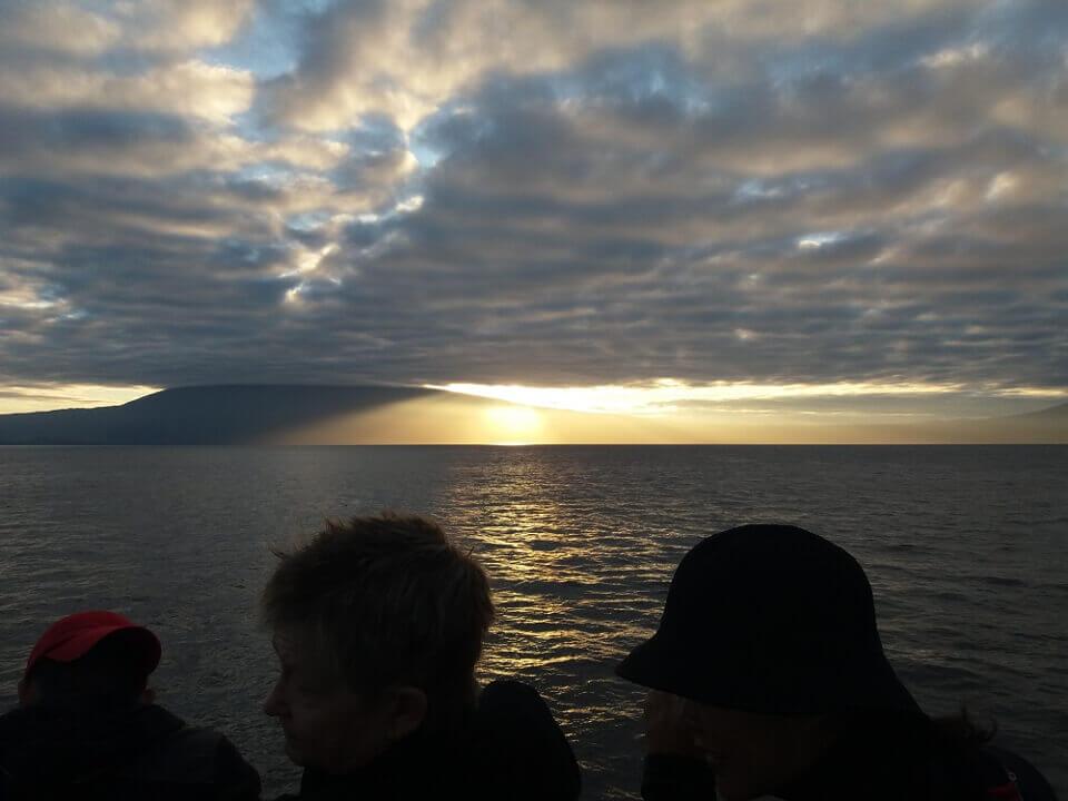 early morning sunrise galapagos isabela island