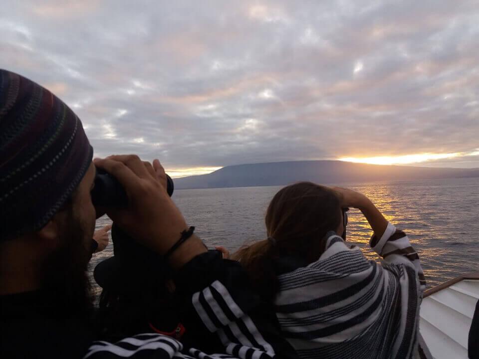 Sunrise on the Galapagos islands
