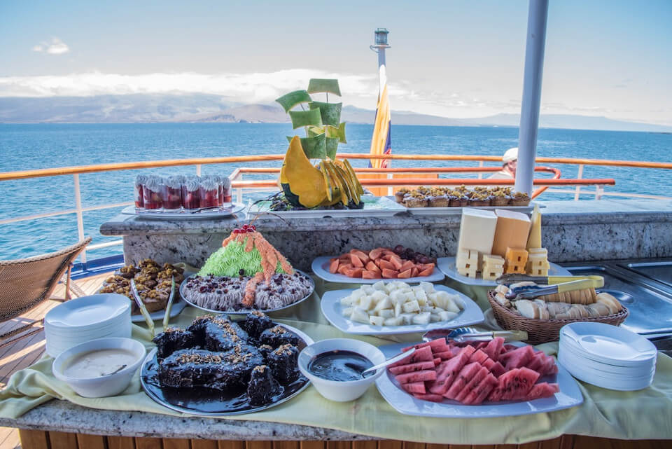 Galapagos islands lunch buffet