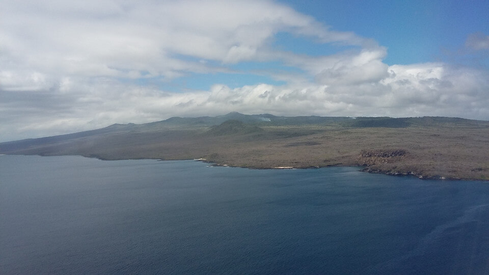 Galapagos landscape from above