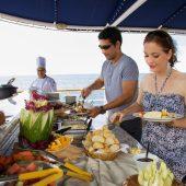 food on yacht isabela ii