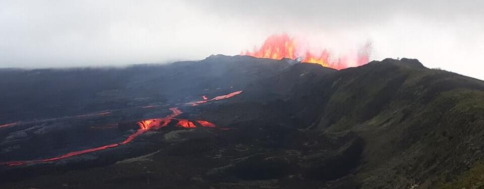 Sierra Negra volcanic eruption in Galapagos islands, 2018