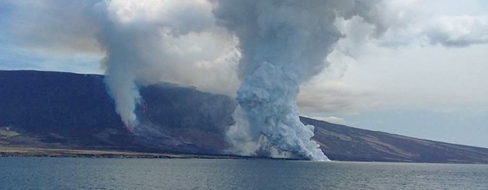 Galapagos islands volcano eruption