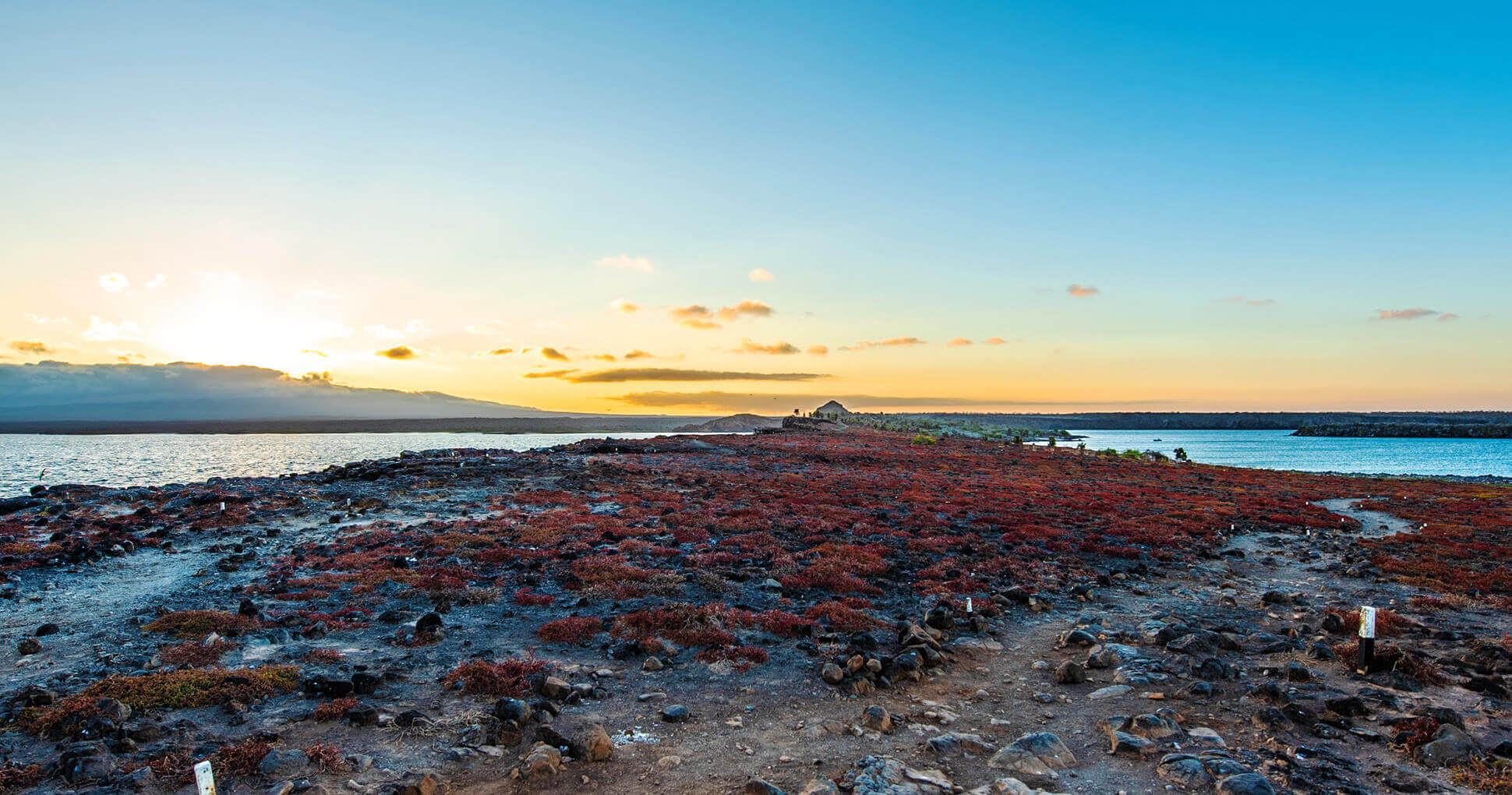 Sunset on North Seymour Island