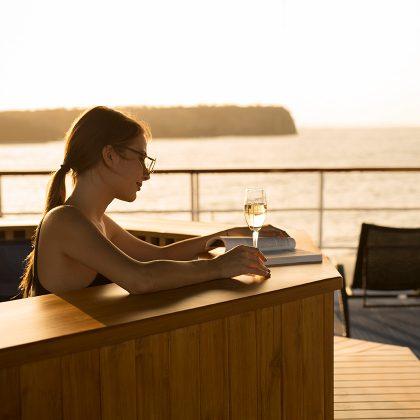 Hot tub at Yacht Isabela