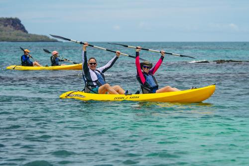 Kayaking at Floreana Island in Galapagos