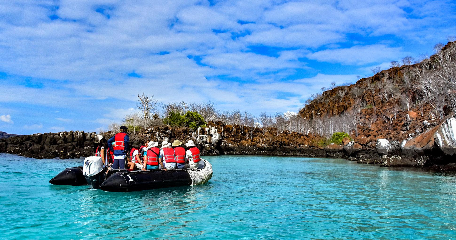 Panga ride on Punta Carrion, Galapagos Islands
